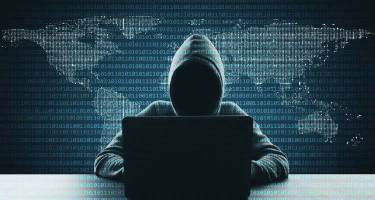 Computer hacking and phishing using malware concept